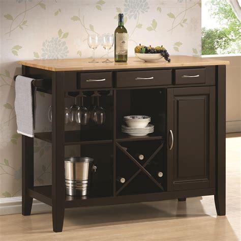 Value City Furniture Kitchen Islands Coaster Kitchen Carts Kitchen Cart With Butcher Block Top