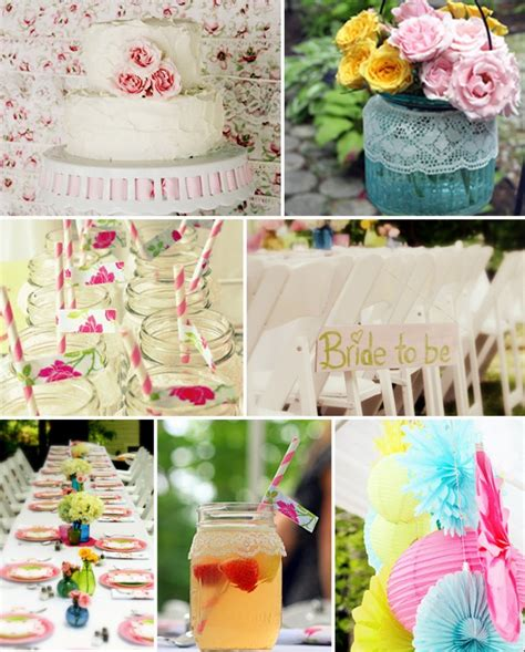 shabby chic vintage floral bridal shower ideas pointofgracechapel