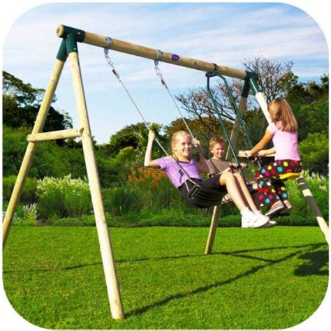 two seater swing set plum kids single swing set with 2 seat glider buy