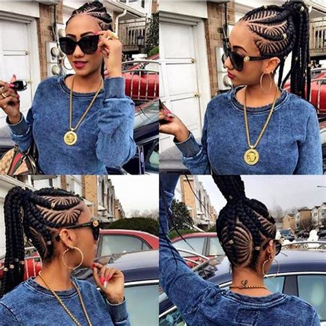 female latest tiny braids mixed with ghana weaving hairstyle of the week ghana braids kamdora