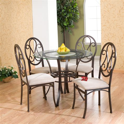 lucianna dining table southern enterprises lucianna glass top
