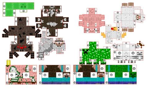 Minecraft Printable Paper Crafts - 53 best images about minecraft papercraft on