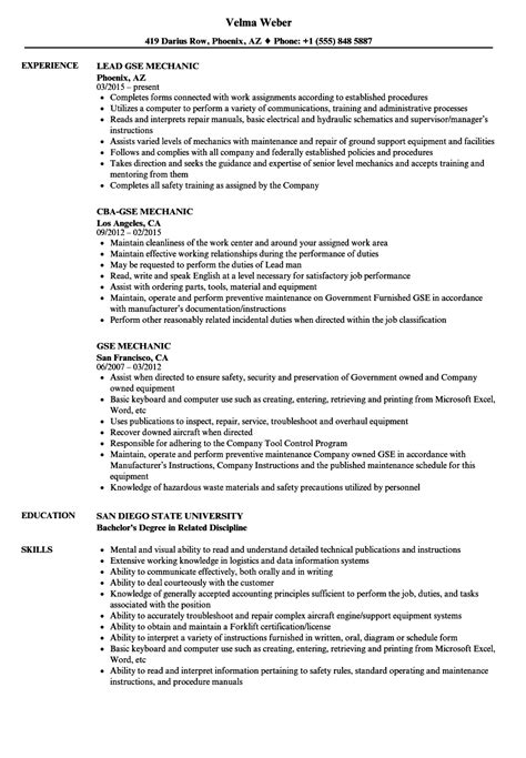 Gse Mechanic Cover Letter by Resume Cover Letter Exles Application Cover Letter Exles For Resume Free Resume