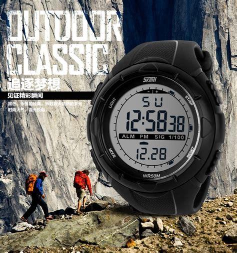 skmei jam tangan pria sport digital waterproof