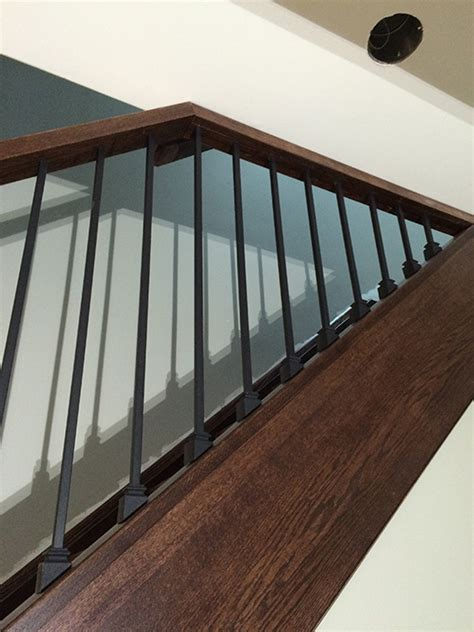 Stain Railing Capping Refacing Box Stair New Stringers Solid Oak