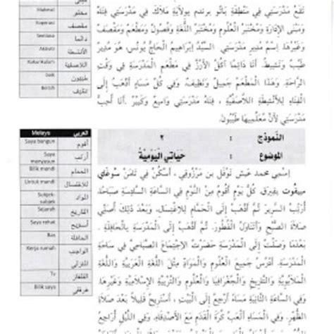100 contoh karangan pendek bahasa arab