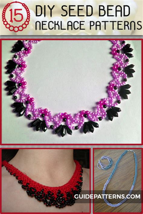 diy seed bead necklace patterns guide patterns