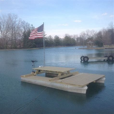 diy picnic table pontoon barge pontoon picnic