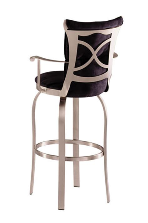 trica grace 30 brushed steel bar stool w swivel trica tuscany swivel stool w arms available in leather