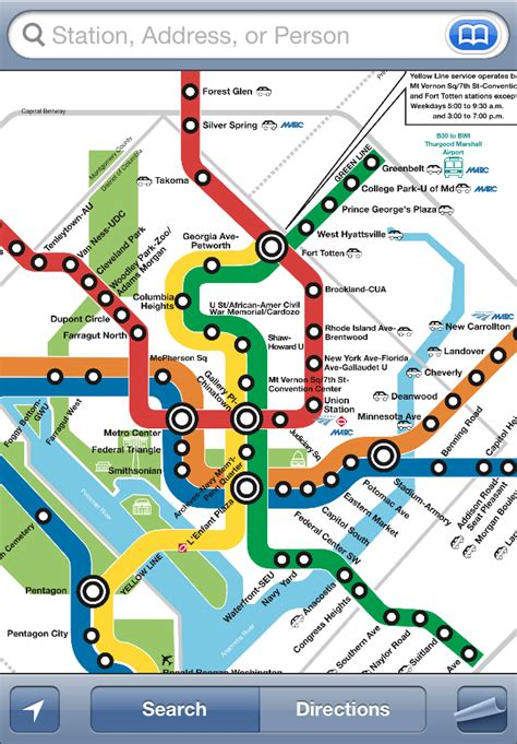 washington dc metro map interactive itrans dc metro iphone app directions schedules