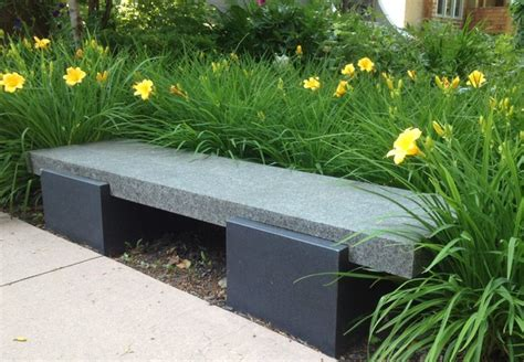 outdoor stone benches stone landscape bench modern outdoor benches edmonton by cast supply inc