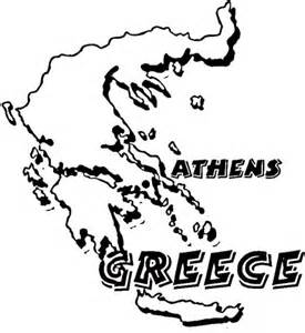 Map Greece Coloring Page Supercoloring Com Ancient Greece Coloring Pages