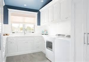 White Cabinets Laundry Room Blue And White Laundry Room Laundry Room With White Cabinets And Blue Paint On Walls And