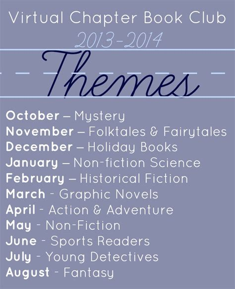 themes of books virtual chapter book club for kids virtual book club for