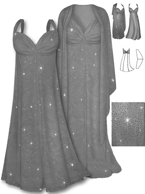 plus size princess seam dress sold out sale lovely gray glitter 2 piece plus size