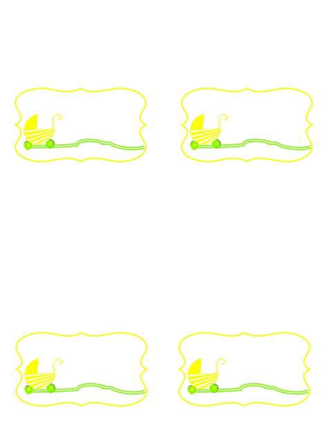 free baby shower borders templates free baby shower border templates cliparts co