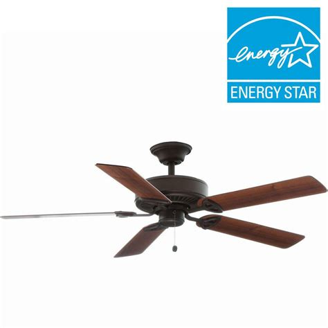 hton bay farmington ceiling fan concord fans roosevelt series 52 in indoor rubbed