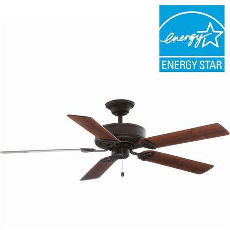 52 farmington ceiling fan farmington 52 in indoor rubbed bronze ceiling fan