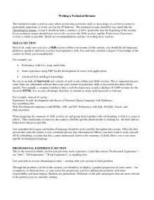Resume Sles Technical Skills Technical Skills List For Resume Sales Technical Lewesmr Resume Template 2017