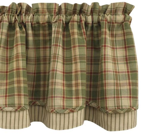 green plaid kitchen curtains bj s country charm tanner shower curtain park designs