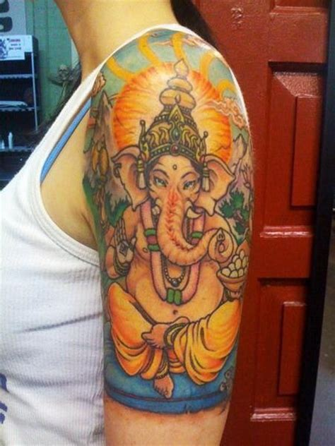 ganesh tattoo sleeve ganesh tattoo design pictures half sleeve fav images