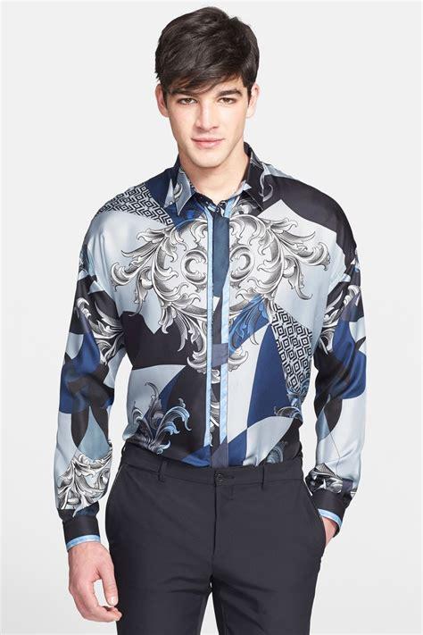 Silk Sleeve Shirt lyst versace baroque printed sleeve silk