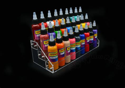 tattoo ink display imported acrylic tattoo ink tier display stand imported