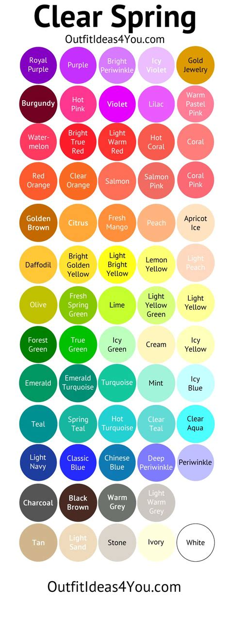 spring colors palette best 25 clear spring ideas on pinterest