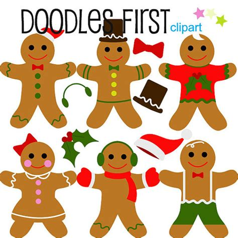 How To Make A Gingerbread Out Of Paper - winter gingerbread digital clip for