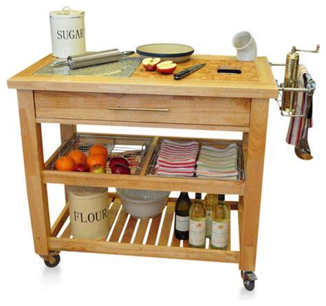 pro chef prep station in espresso kitchen