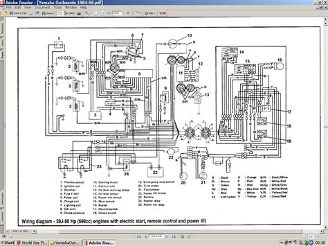 5 best images of yamaha outboard wiring diagram