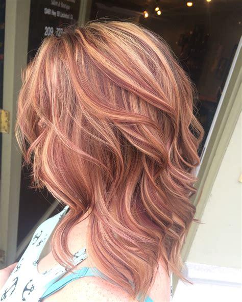 blonde hair red hair medium hair hair  makeup