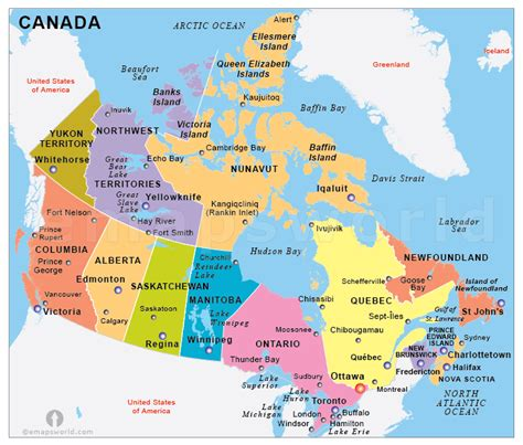 usa map with canada map of canada major cities free world maps collection