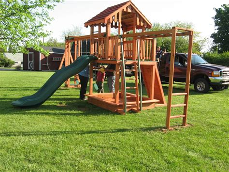 hill swing set wooden playsets shippensburg pa by air hill lawn furniture