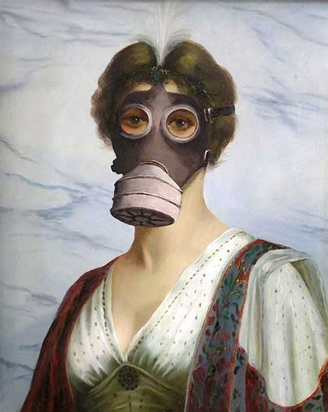 Masker Onstreet Maroon Banksy Canvas Gas Mask Classic By