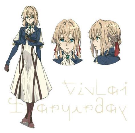 anime design violet evergarden anime reveals character designs news