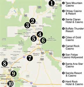 New Mexico Casinos Map by Nm Mitch Nm Rail Runner