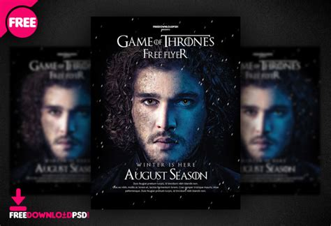 Game Of Thrones Night Party Flyer Psd Freedownloadpsd Com Of Thrones Photoshop Template