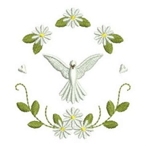 embroidery design dove christening dove wreath embroidery designs machine