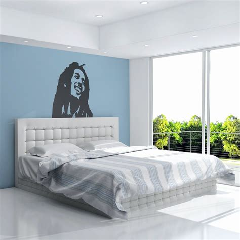 bob marley bedroom bob marley vinyl wall art decal for home decor interior