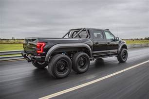 hennessey 174 velociraptor 174 6x6 unleashed at the 2017 sema