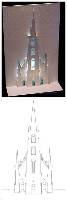 How To Make A Church Out Of Paper - diy a small castle ramadan cards deserts and origami