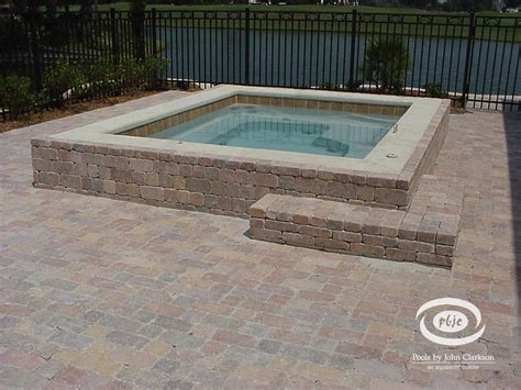 in ground bathtub in ground hot tub designs built in fiberglass hot tub with paver exterior water