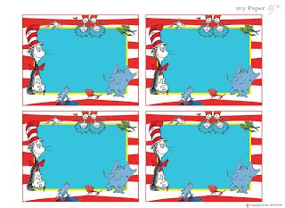 My Paper Lily Free Printables Dr Seuss Is The Man Thing 1 Editable Template