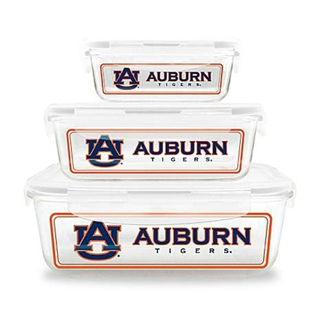 bed bath and beyond auburn auburn university 6 piece glass food container set bed