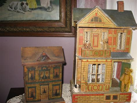 antique teddy bear crossing antique dollhouses aka teddy bear houses