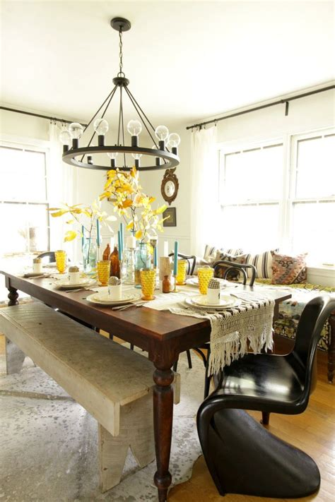modern vintage eclectic dining room thanksgiving beautiful diy ideas