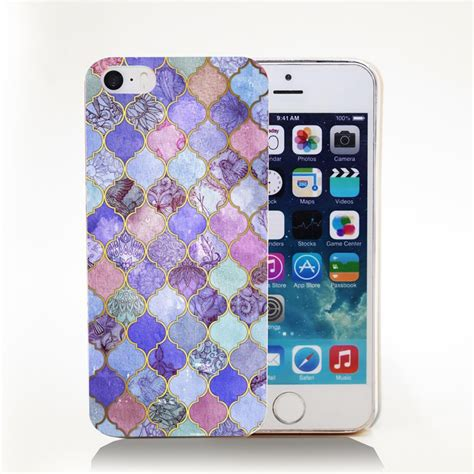 Decorative Phone Cover by Decorative Moroccan Tile Pattern Transparent