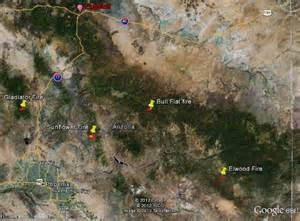four large fires burning in arizona wildfire today