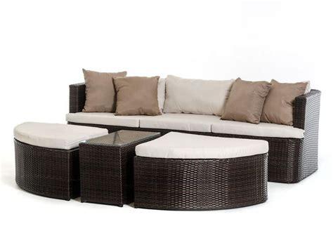 outdoor brown beige sofa set in modern style 44p203 set